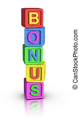 toneelstuk, blokjes, :, bonus