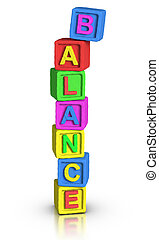 toneelstuk, blokjes, :, evenwicht