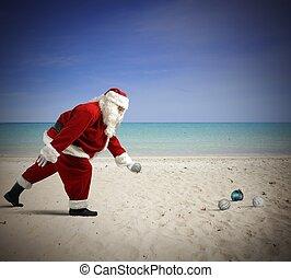 toneelstuk, claus, kerstman
