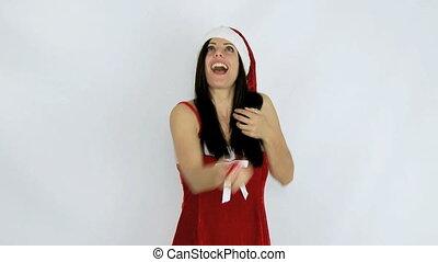 toneelstuk, gelul, claus, kerstman, vrolijke