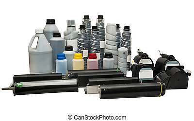 Toners and cartridges for printers