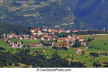 tonezza del cimone village in the province of vicenza