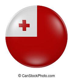 Tonga button on white background