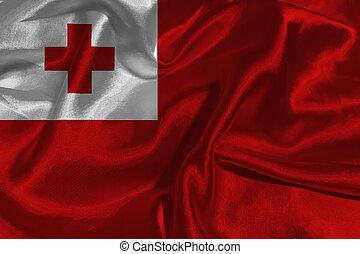 Tonga flag 3D illustration symbol