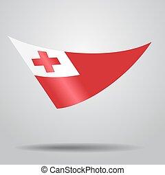 Tonga flag background. Vector illustration. - Tonga flag ...