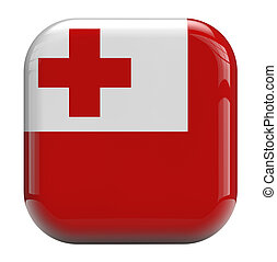 Tonga flag image icon isolated