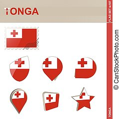 Tonga Flag Set, Flag Set #187