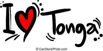 Tonga love - Creative design of tonga love