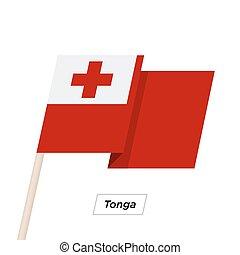 Tonga Ribbon Waving Flag Isolated on White. Vector ...