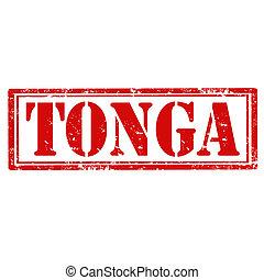 Tonga-stamp - Grunge rubber stamp with word Tonga, vector ...