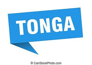 Tonga sticker. Blue Tonga signpost pointer sign