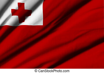 Tonga - High detailed waving flag of different countries...