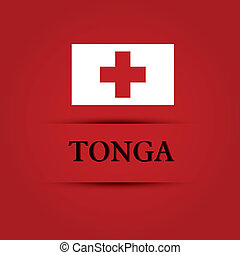 Tonga text on special background allusive to the flag