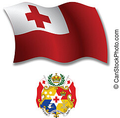 tonga textured wavy flag vector