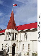 Tongan Parliament building in Nuku'alofa