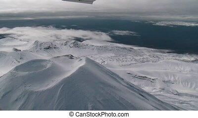 Tongariro National Park 4 - scenic flight over old volcanic...