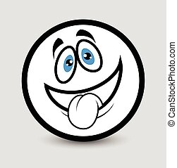 Tongue Out Emoticon Clipart