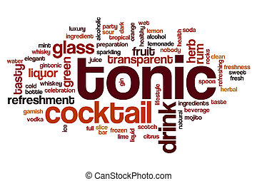 Tonic word cloud concept