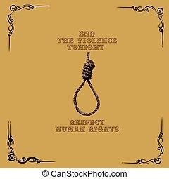 tonight, affisch, våldsamhet, avsluta
