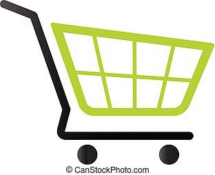 tono, duetto, -, carrello, shopping, icona