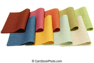 tono, muestra tela, multicolor, plano de fondo, blanco