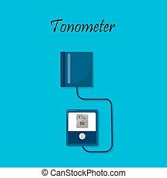 Tonometer. Arterial blood pressure measuring