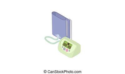 Tonometer icon animation best object on white background
