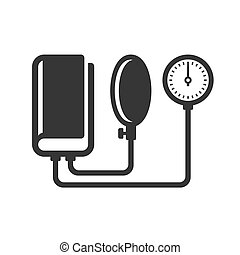 Tonometer Icon on White Background. Vector