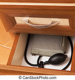 tonometer in desk drawer