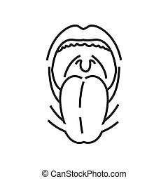 Tonsillitis, Medical Doctors Otolaryngology icon, line icon...