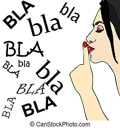 Too many chatter - A woman orders her to shut up