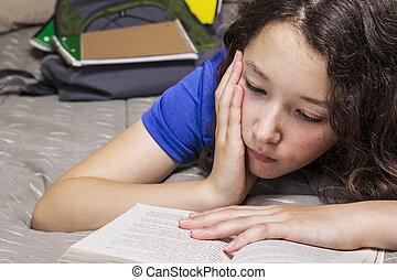 Too much homework for girl