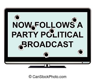 Too much politics on television - Comical too much political...