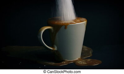 Too Much Sugar Added To Drink - Health Concept - Hot drink...