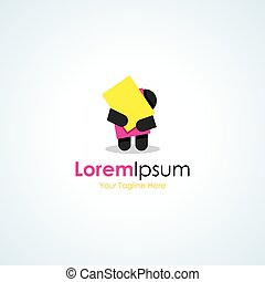 Too much work load simple workaholic business icon logo