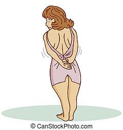 Too Tight Dress Woman