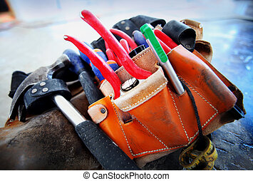 Tool belt - Construction worker's Construction worker's tool...