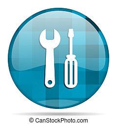 tool blue round modern design internet icon on white background