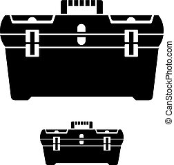 tool box black symbol