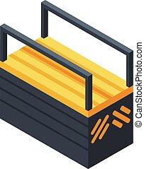 Tool box icon, isometric style