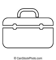 Tool box professional icon black color illustration flat style simple image