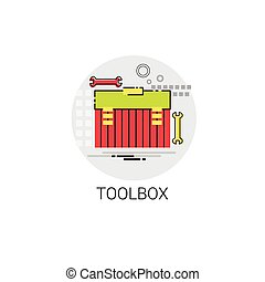 Tool Building Construction Engineering Toolbox Icon