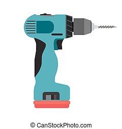 tool., energia elettrica, lavoro, driver, isolato,...
