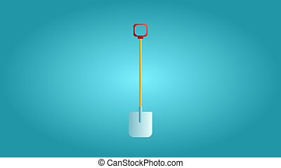 Tool for repair and construction a metal shovel for digging the earth and demolition and gardening on a blue background. Vector illustration