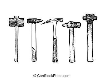 Tool hammer vector illustration