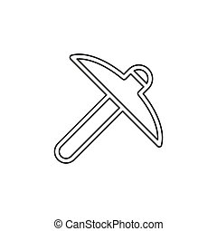 Tool icon, Hammer icon, vector construction