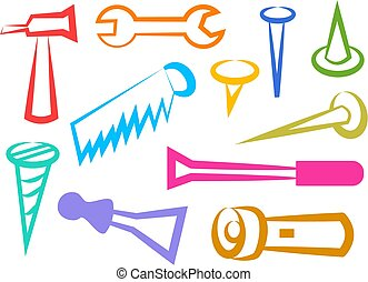 Tool icons - everyday tools