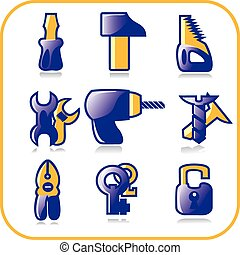 tool icons, vector