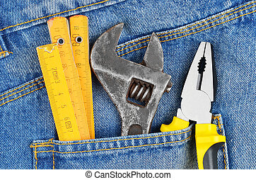 Tool in jeans pocket