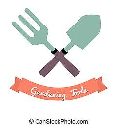 tool., jardinage